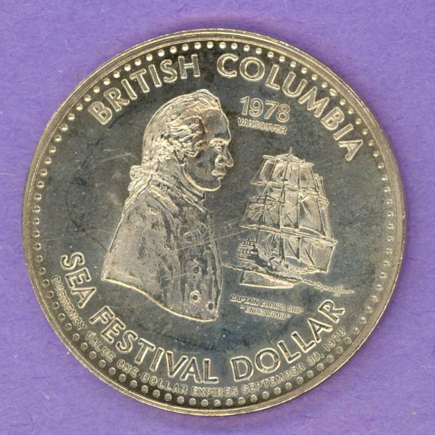 1978 Vancouver B.C. Trade Token or Dollar Captain Cook Ship