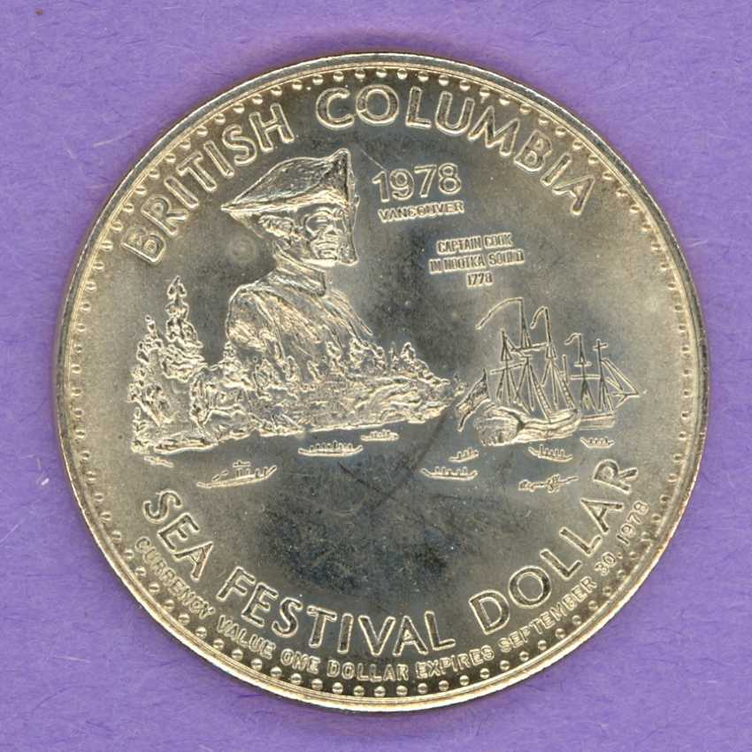 1978 Vancouver B.C. Trade Token Nootka Sound Whitby LG DATE
