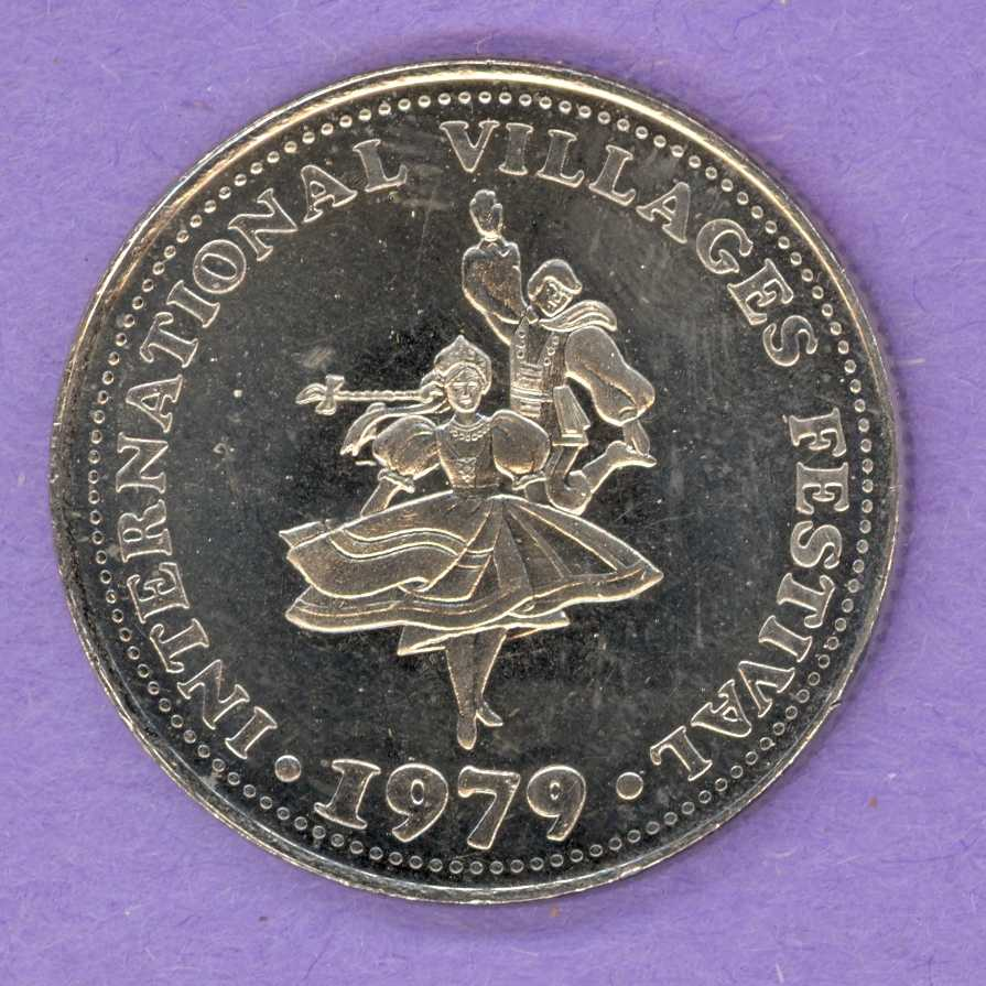 1979 Brantford, Ontario Trade Token - Dancers