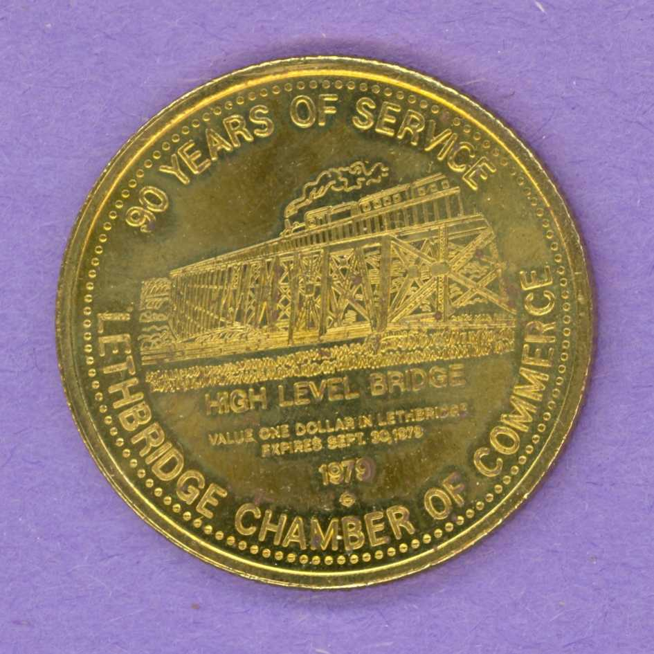 1979 Lethbridge Alberta Trade Token - High Level Bridge