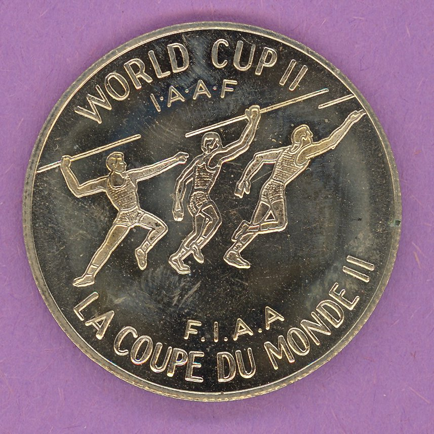 1979 Montreal Quebec Private Trade Token or Souvenir Coin World Cup II Javelin