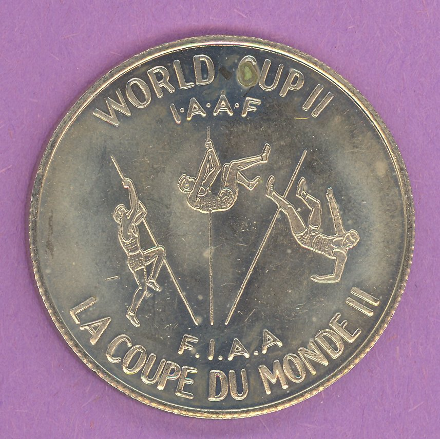1979 Montreal Quebec Private Trade Token or Souvenir Coin World Cup II Pole Vaulter