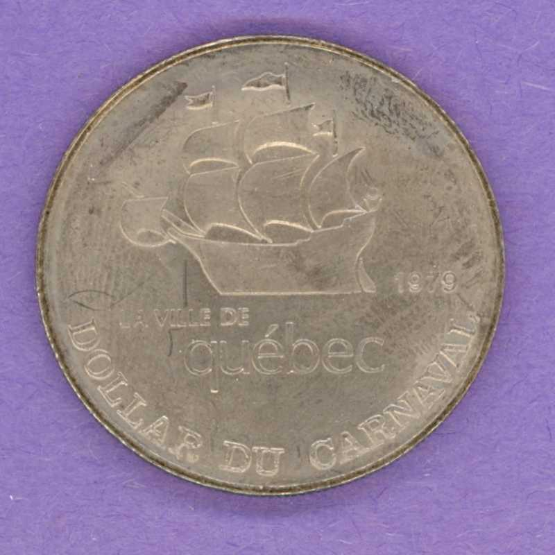 1979 Quebec City Quebec Trade Dollar or Token 1958 Effigy City Crest