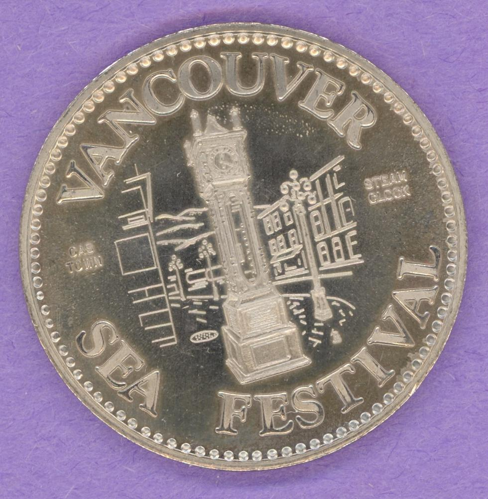 1979 MULE Vancouver British Columbia Trade Token or Dollar Steam Clock Planetarium
