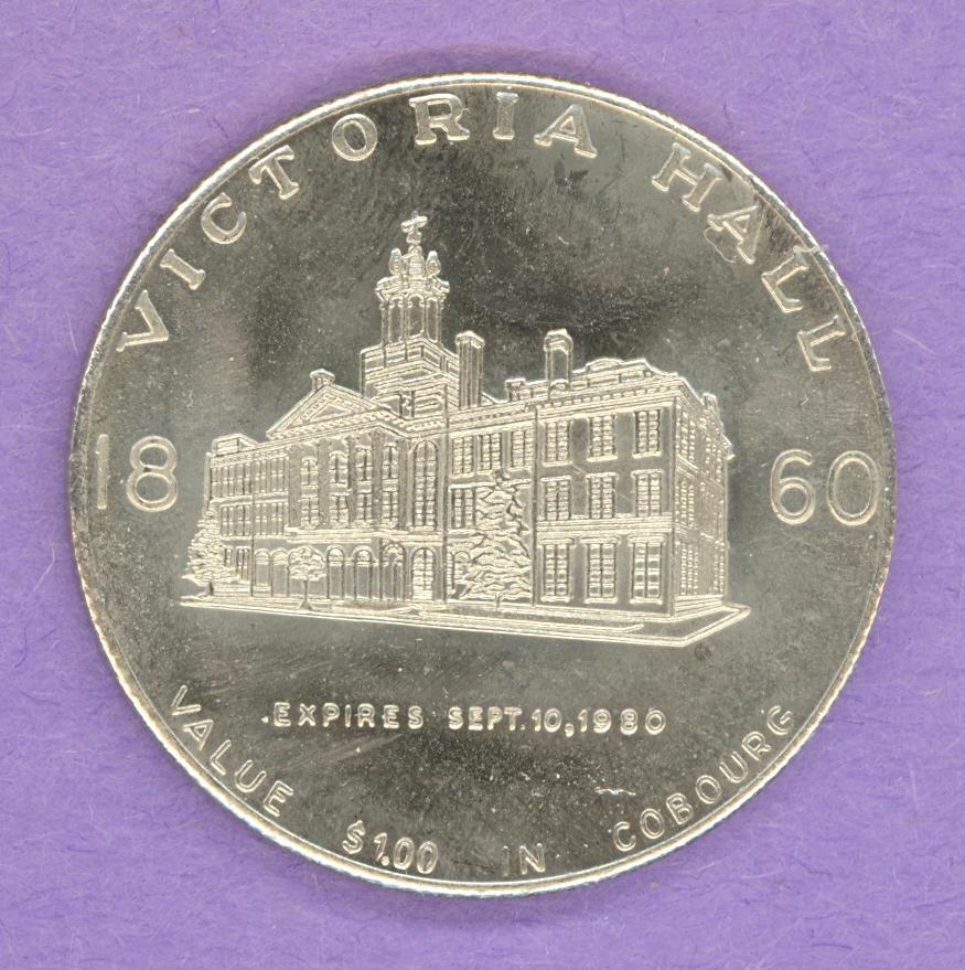 1980 Cobourg, Ontario Trade Token - Victoria Hall