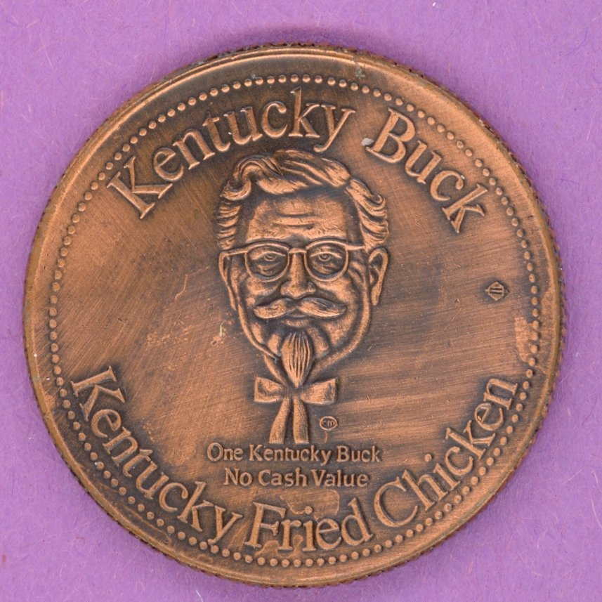 1980 Kentucky Fried Chicken Kentucky Buck Colonel Sanders 25 years BRONZE PLATE