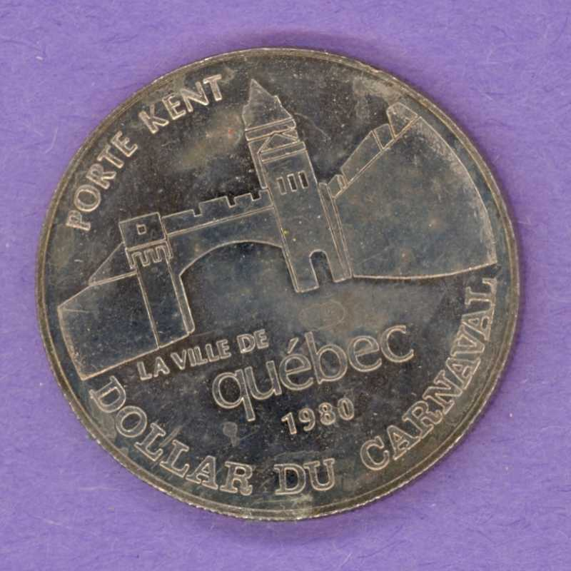 1980 Quebec City Quebec Trade Dollar or Token 1962 Effigy Porte Kent