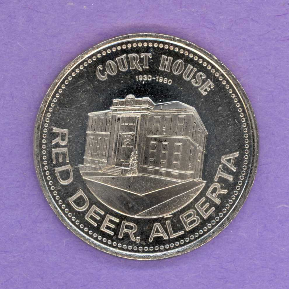 1980 Red Deer Alberta Trade Dollar