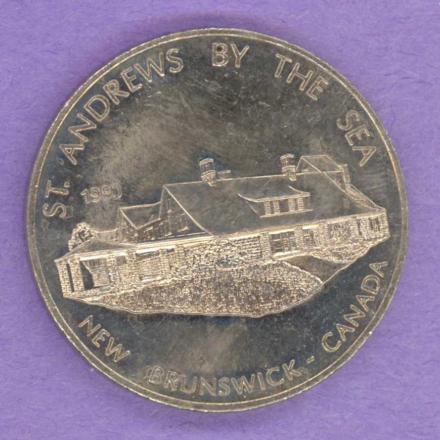 1980 St Andrews by the Sea, New Brunswick Trade Dollar Covenhaven