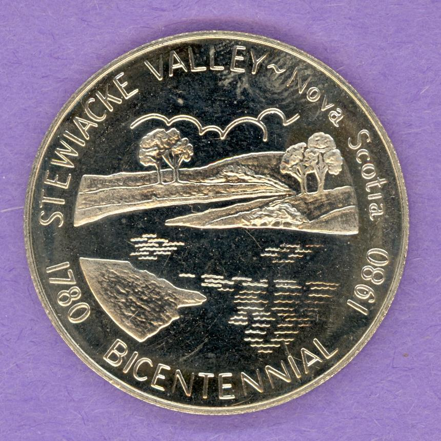 1980 SCARCE Stewiacke Valley Nova Scotia Trade Token Elm Bicentennial
