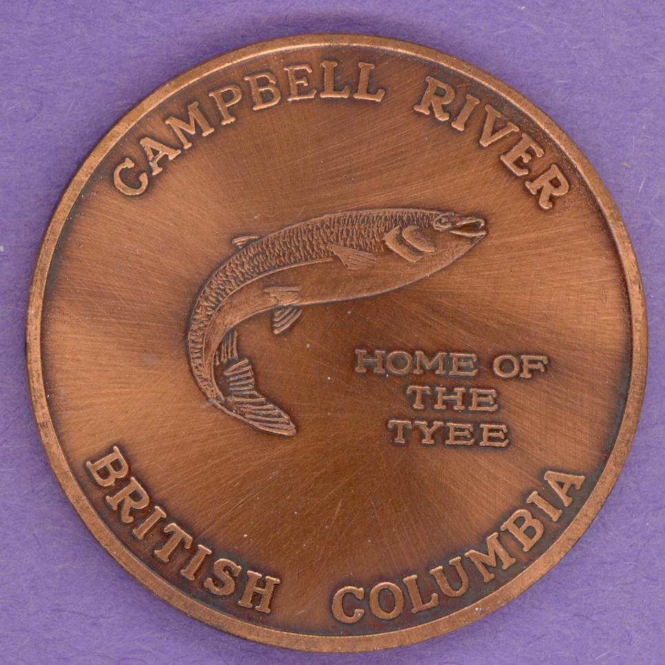 1980 Tyee Plaza Campbell River Trade Token Rare Bronze