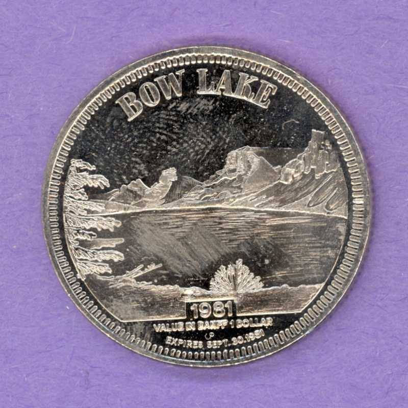 1981 Banff Alberta Trade Token - Bow Lake