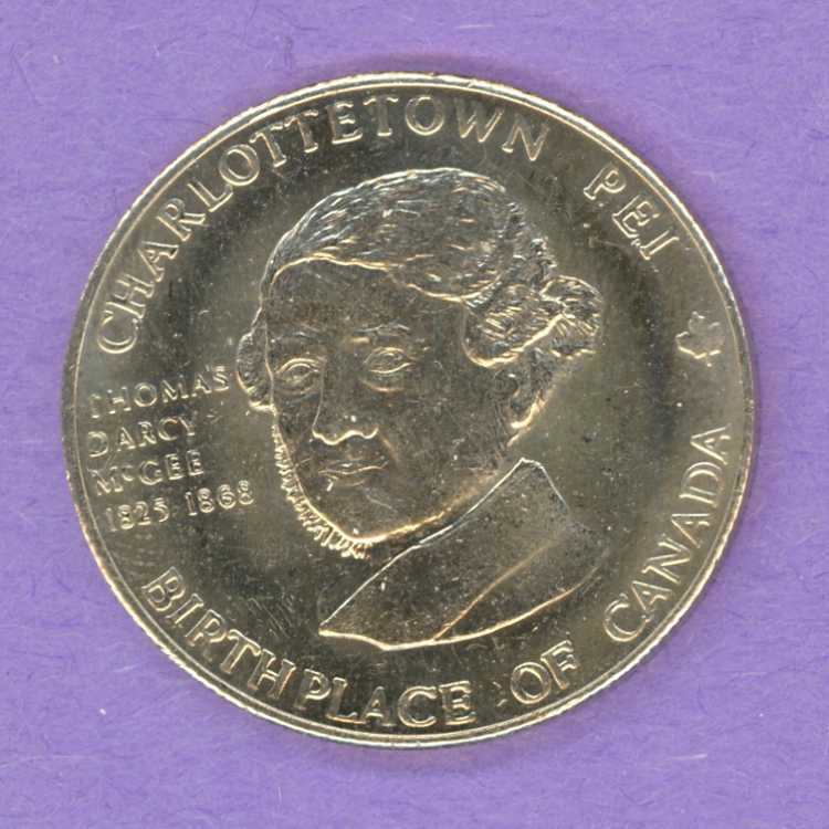 1981 Charlottetown PEI Trade Dollar McGee Partial Nickel Silver