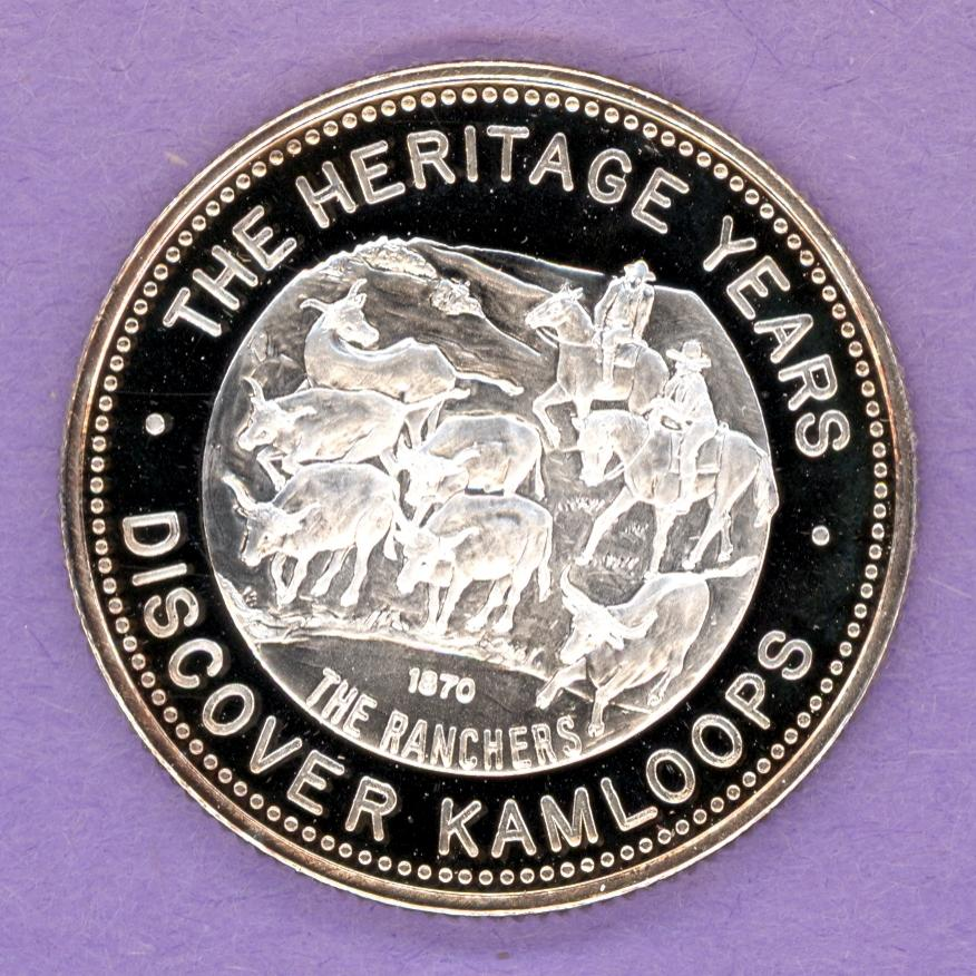 1981 Kamloops British Columbia Trade Token or Dollar Ranchers Kami SILVER