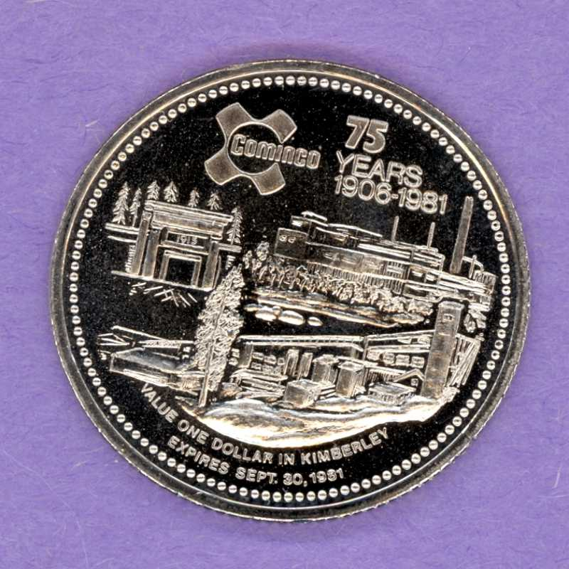 1981 Kimberley BC Trade Token - Industrial Site