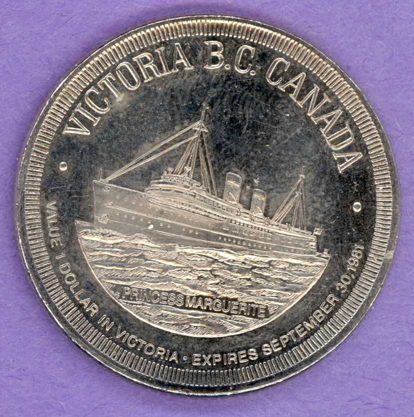 1981 Victoria BC Trade Token - Ship