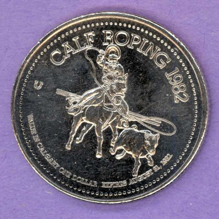 1982 Calgary Alberta Trade Dollar - Horseshoe Mint Mark