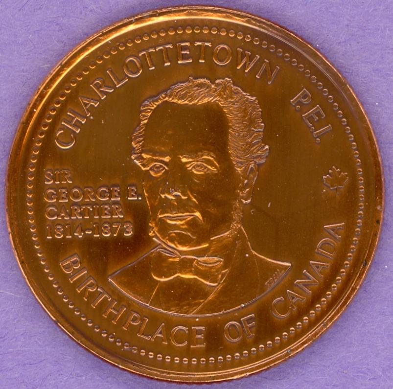 1982 Charlottetown PEI Trade Token Province House Sir George Cartier Bronze