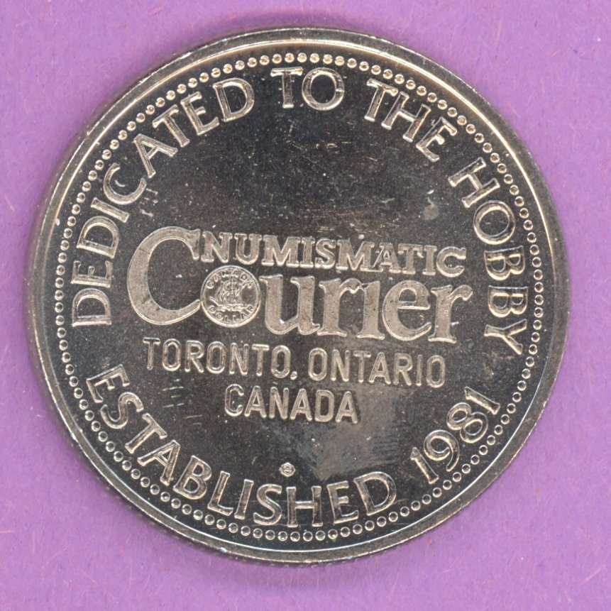 1982 Numismatic Courier Toronto Ontario Private Trade Token or Dollar