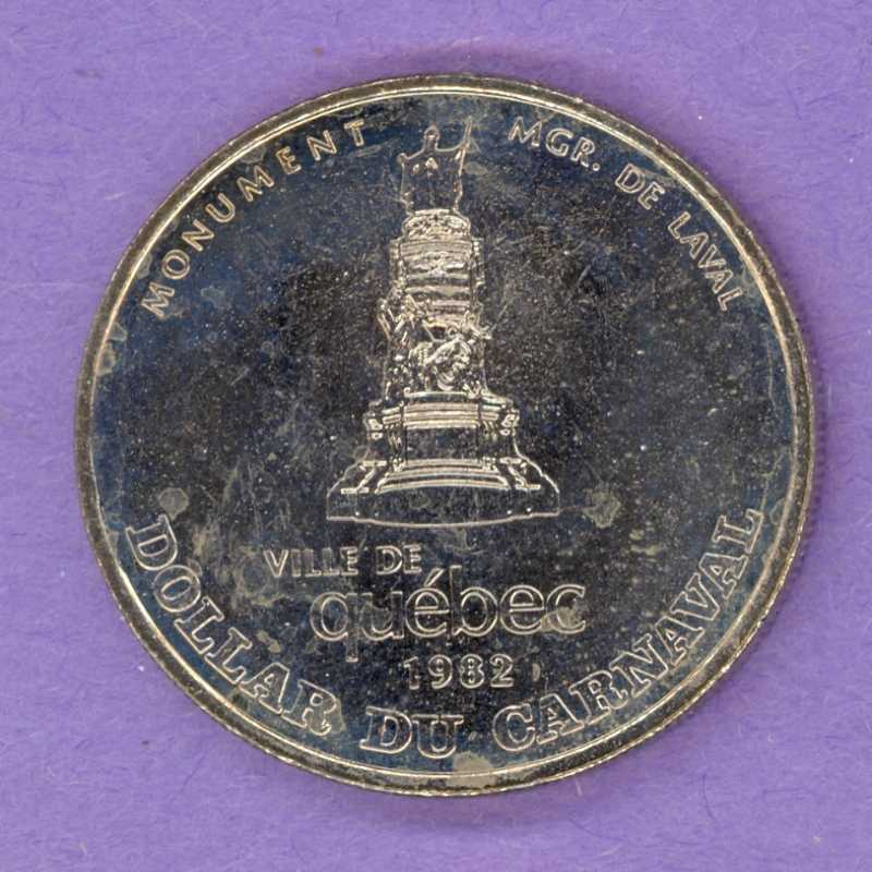 1982 Quebec City Quebec Trade Dollar or Token 1967 Effigy Mgr de Laval