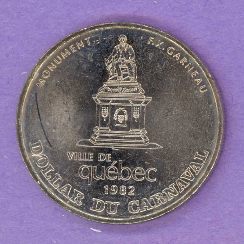 1982 Quebec City Quebec Trade Dollar or Token 1970 Effigy F.X. Garneau Monument