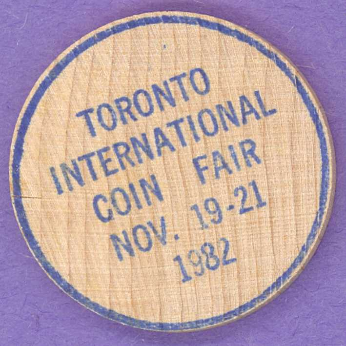 1982 Toronto International Coin Fair The Coin Shop Wooden Nickel