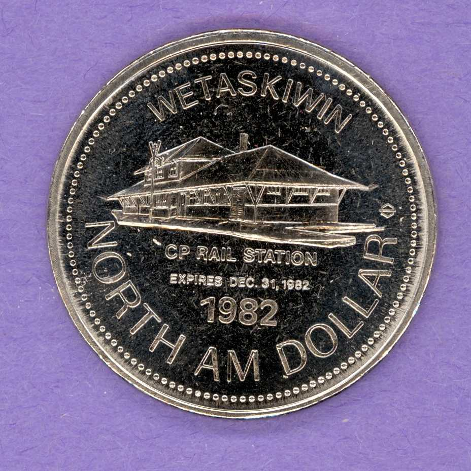 1982 Wetaskiwin, Alberta Trade Token - Railway Station