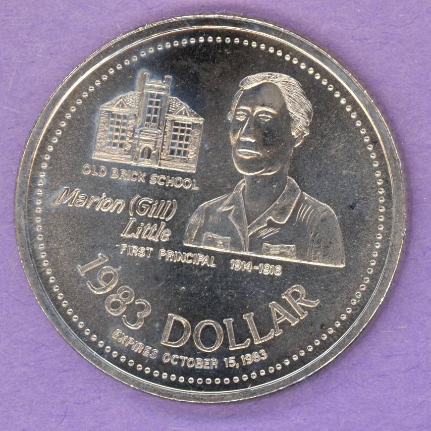 1983 Athabasca Trade Token - Marion Little