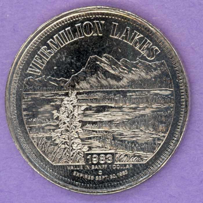 1983 Banff Trade Token - Vermilion Lakes