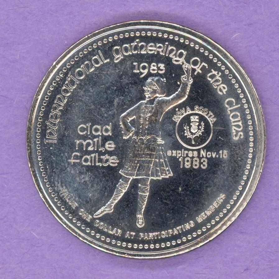 1983 Cape Breton Nova Scotia Trade Token