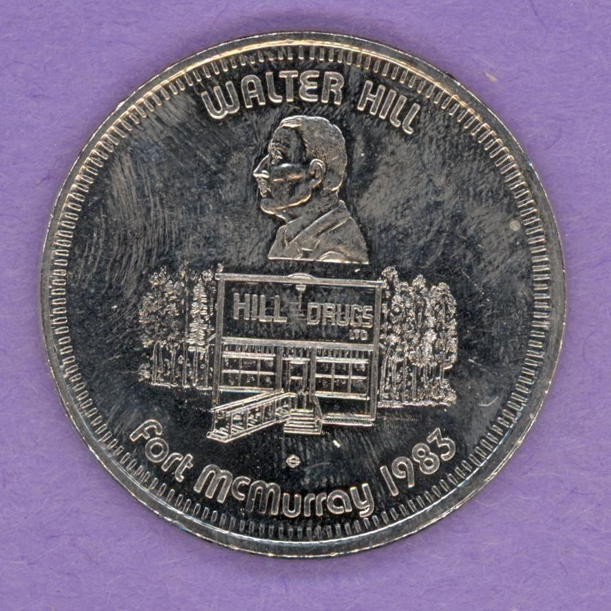 1983 Fort McMurray, Alberta Trade Dollar - Walter Hill