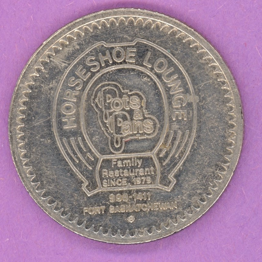 1983 Pots & Pans Horseshoe Lounge Fort Saskatchewan Alberta Private Trade Token