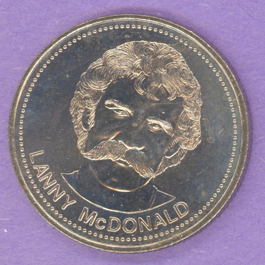 1983 Calgary Flames Trade Dollar - McDonald