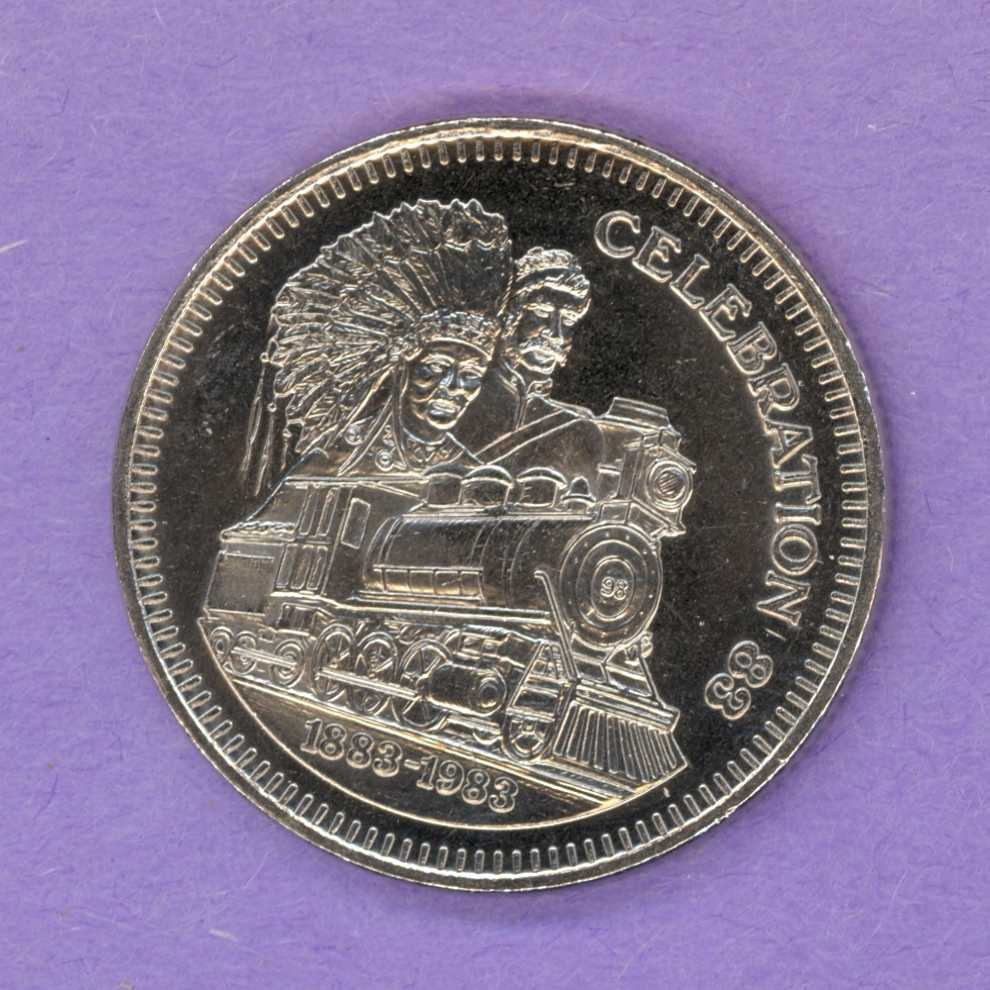 1983 Medicine Hat Alberta Trade Token - Locomotive