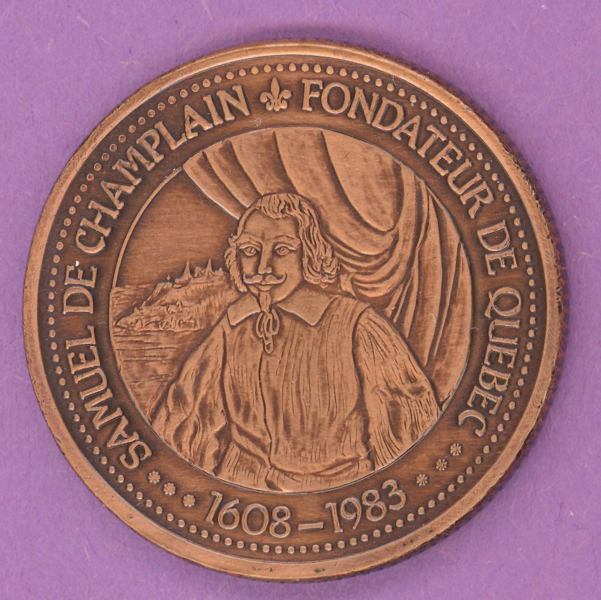 1983 J A Moisan Store Quebec 30 sous Private Trade Token Champlain Store BRONZE PLATE