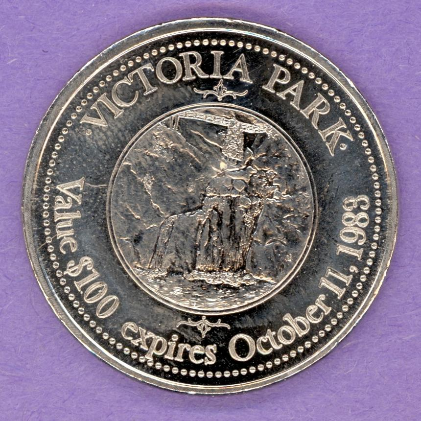 1983 Truro Nova Scotia Trade Token or Dollar Victoria Park Crest