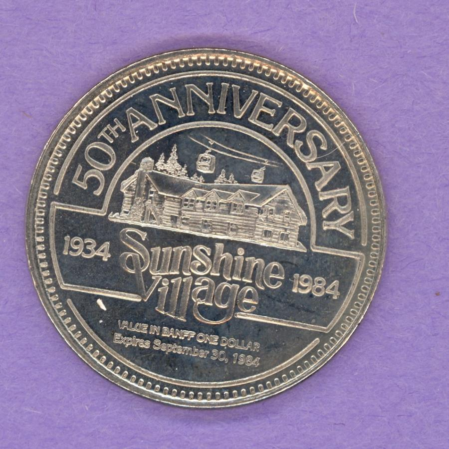 1984 Banff Trade Token - Sunshine Village