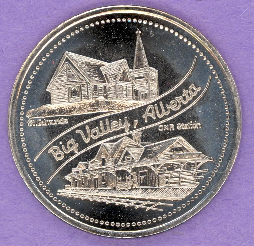 1984 Big Valley Alberta Trade Token - CNR Station