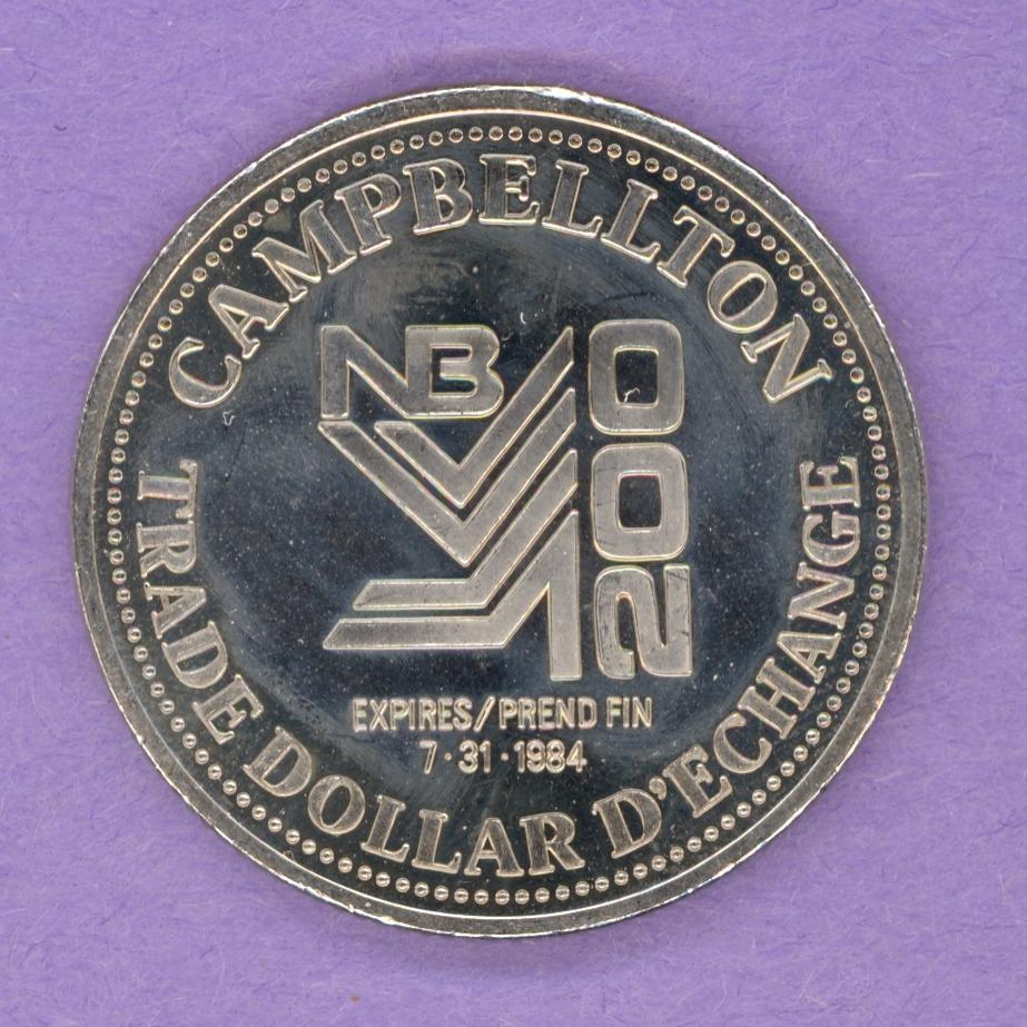 1984 Campbellton, New Brunswick Trade Dollar
