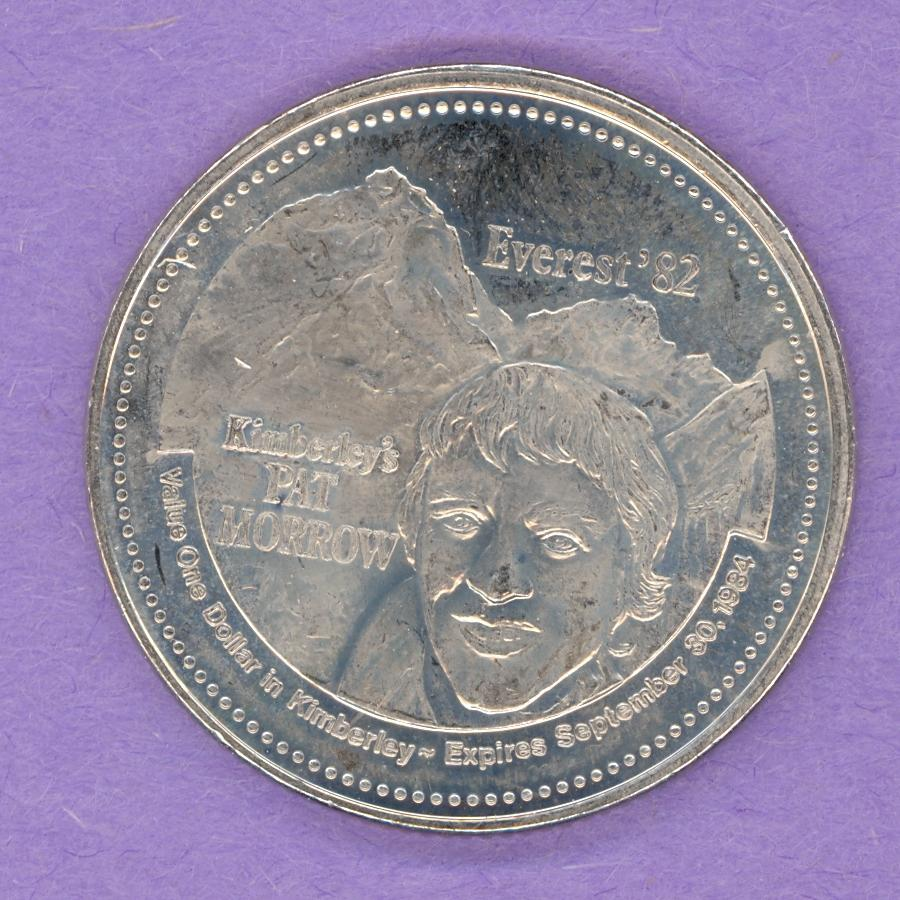 1984 Kimberley BC Trade Token - Pat Morrow