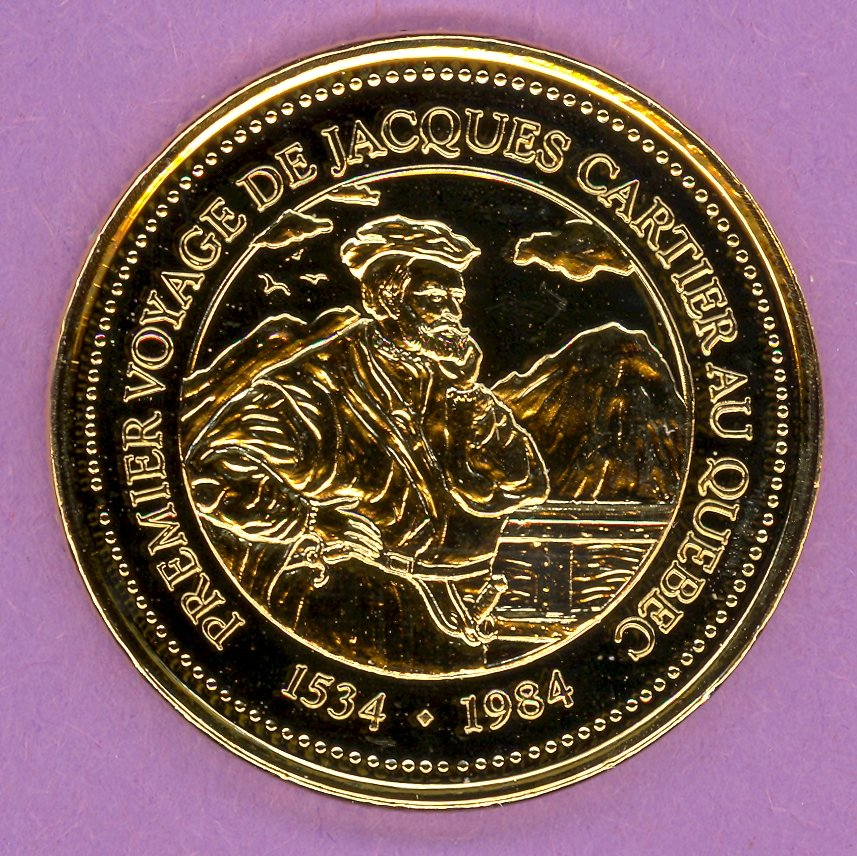 1984 La Grande Allee Quebec Private Trade Token or Dollar Cartier GOLD PLATED