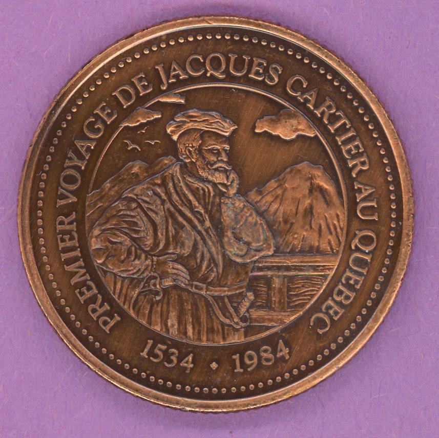 1984 La Grande Allee Quebec Private Trade Token or Dollar Cartier BRONZE PLATED