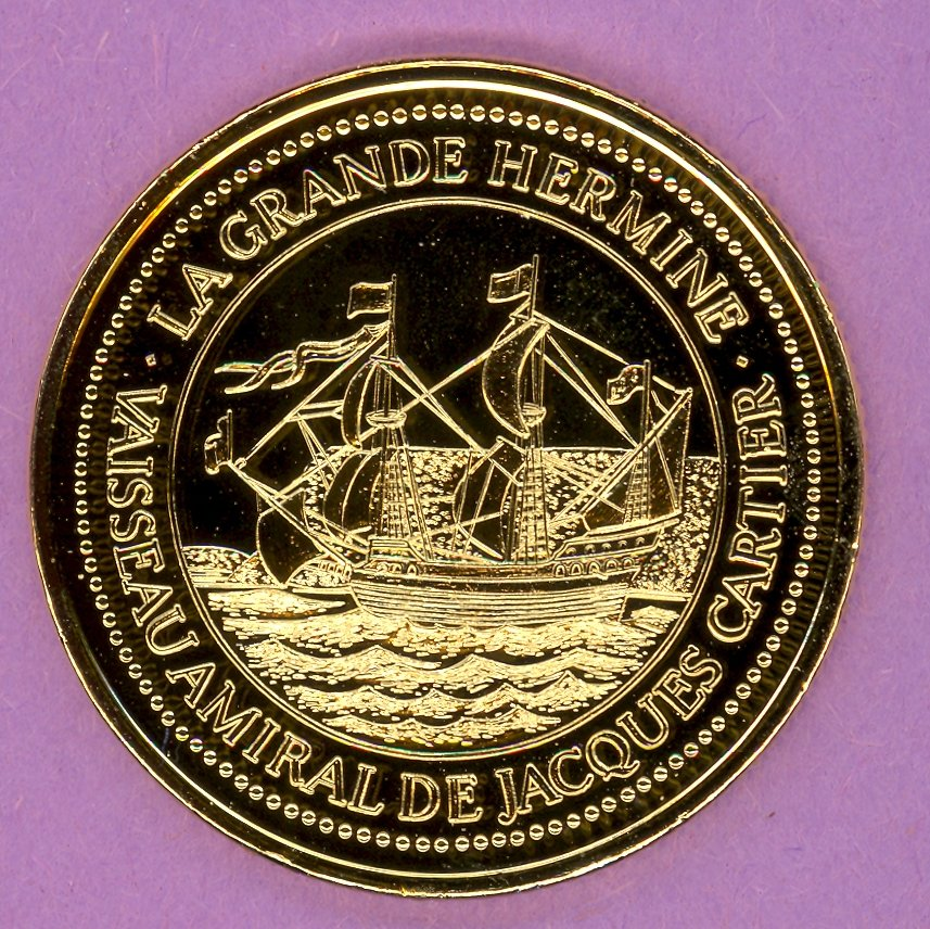 1984 La Grande Allee Quebec Private Trade Token or Dollar La Grande Hermine GOLD PLATED