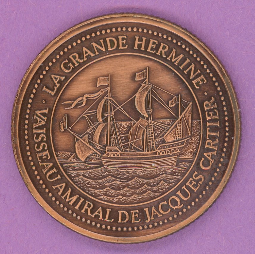 1984 La Grande Allee Quebec Private Trade Token or Dollar La Grande Hermine BRONZE PLATED