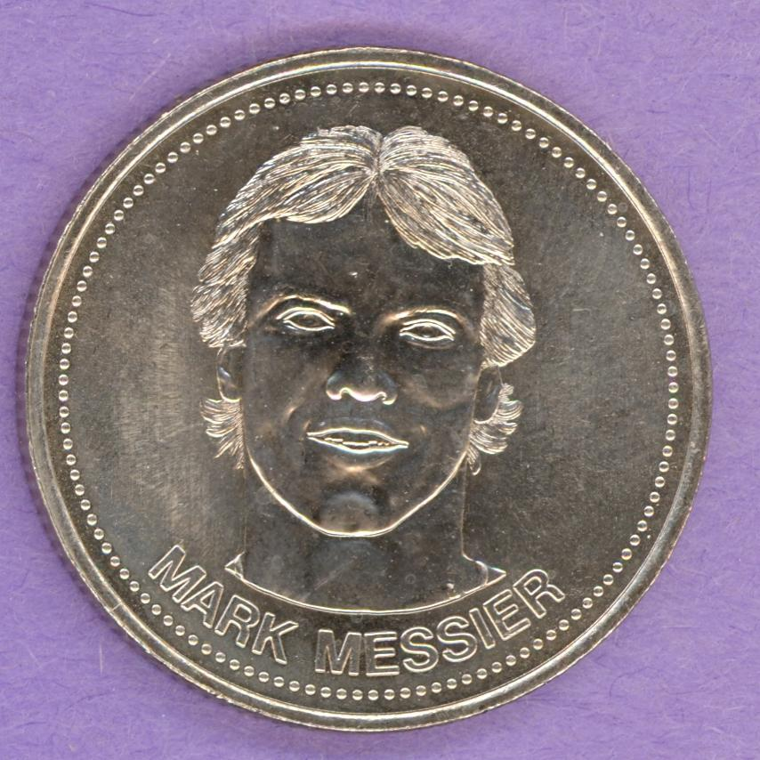 1984 Edmonton Oilers Trade Dollar - Mark Messier