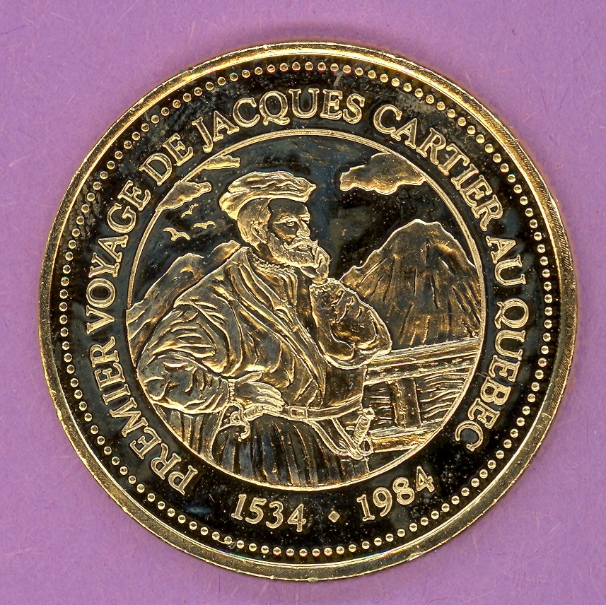 1984 J A Moisan Store Quebec 30 sous Private Trade Token Cartier Store GOLD PLATE