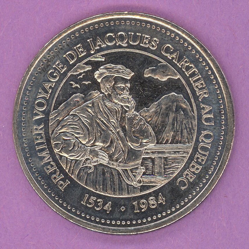 1984 J A Moisan Store Quebec 30 sous Private Trade Token Cartier Store NICKEL BONDED STEEL
