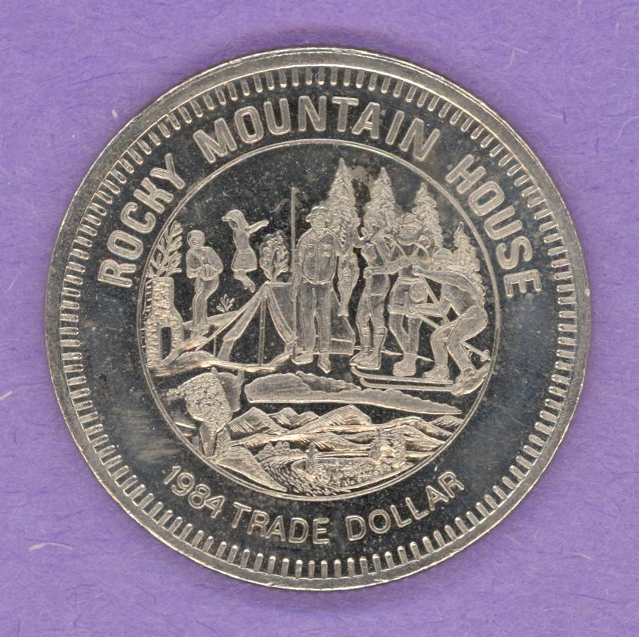 1984 Rocky Mountain House Alberta Trade Dollar