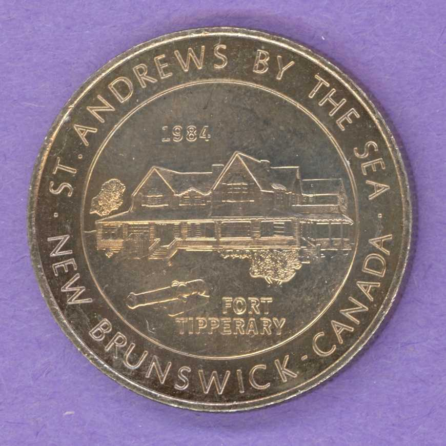 1984 $2.00 St. Andrews-By-The-Sea New Brunswick Trade Token Fort Tipperary