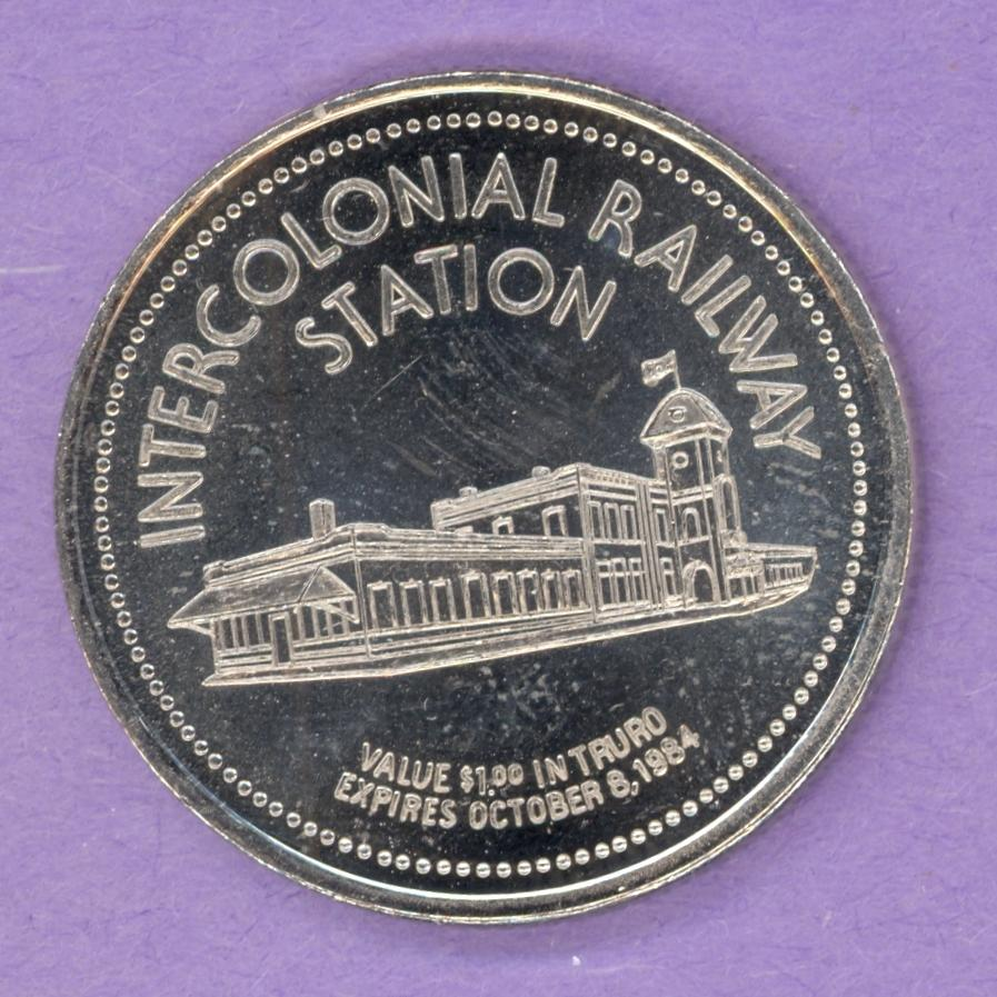 1984 Truro Nova Scotia Trade Token - Railway Station